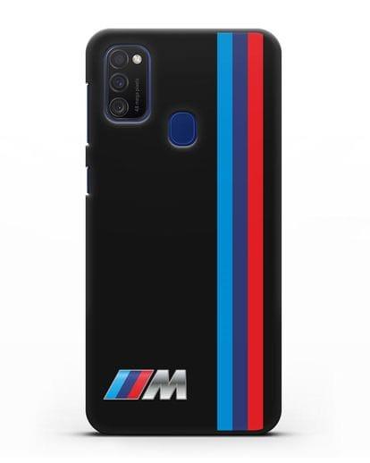 Чехол BMW M Perfomance силикон черный для Samsung Galaxy M21 [SM-M215F]