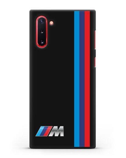 Чехол BMW M Perfomance силикон черный для Samsung Galaxy Note 10 [N970F]
