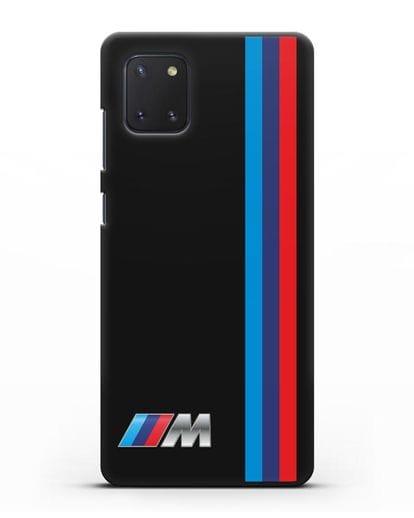 Чехол BMW M Perfomance силикон черный для Samsung Galaxy Note 10 Lite [N770F]