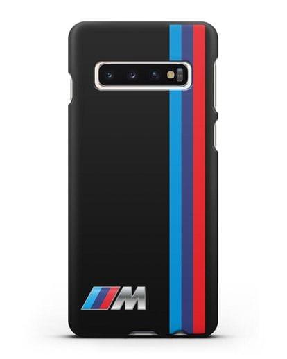 Чехол BMW M Perfomance силикон черный для Samsung Galaxy S10 Plus [SM-G975F]
