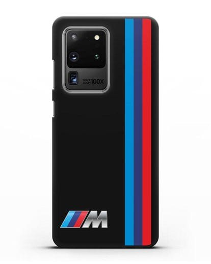 Чехол BMW M Perfomance силикон черный для Samsung Galaxy S20 Ultra [SM-G988B]