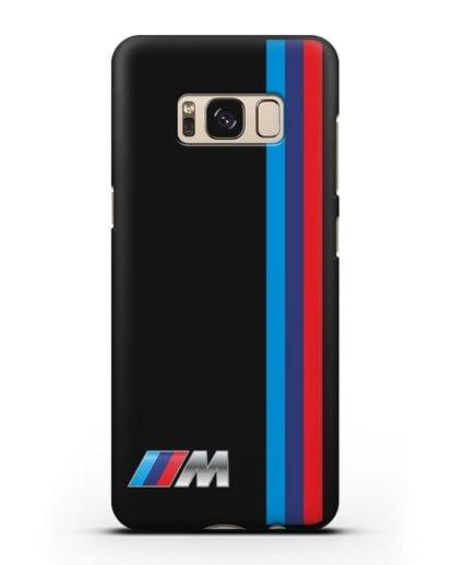 Чехол BMW M Perfomance силикон черный для Samsung Galaxy S8 Plus [SM-G955F]