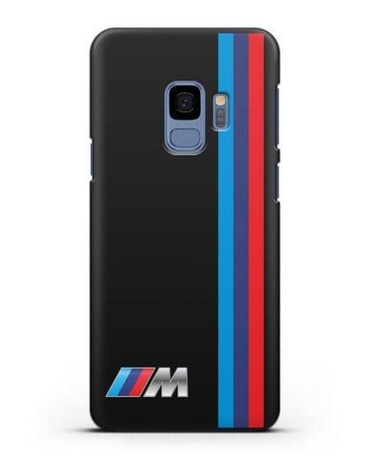 Чехол BMW M Perfomance силикон черный для Samsung Galaxy S9 [SM-G960F]