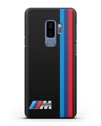 Чехол BMW M Perfomance силикон черный для Samsung Galaxy S9 Plus [SM-G965F]