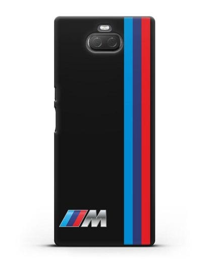 Чехол BMW M Perfomance силикон черный для Sony Xperia 10 Plus