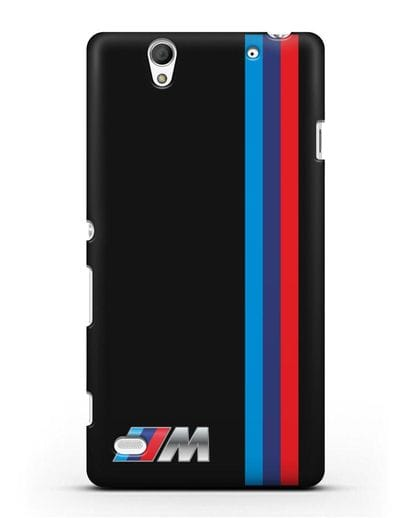 Чехол BMW M Perfomance силикон черный для Sony Xperia C4
