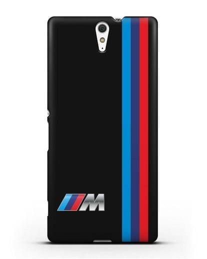 Чехол BMW M Perfomance силикон черный для Sony Xperia C5