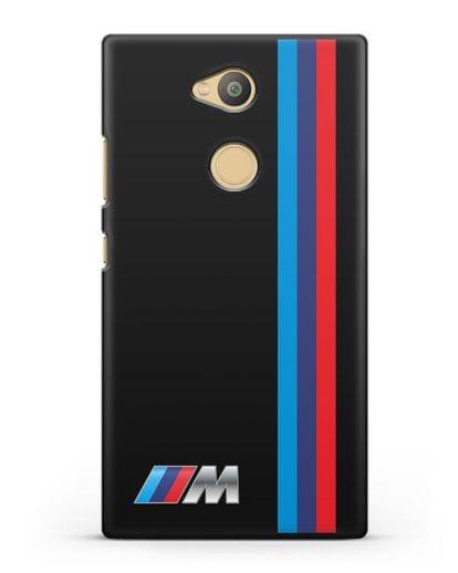 Чехол BMW M Perfomance силикон черный для Sony Xperia L2