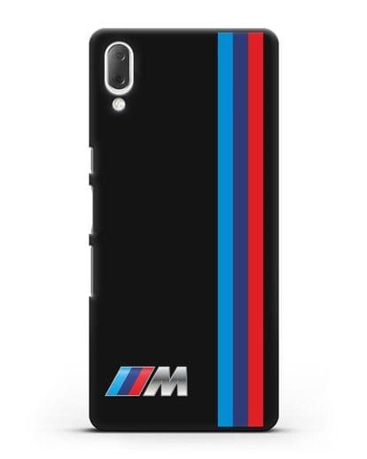 Чехол BMW M Perfomance силикон черный для Sony Xperia L3