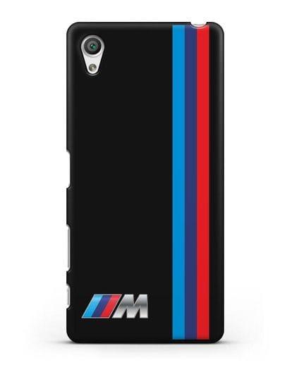 Чехол BMW M Perfomance силикон черный для Sony Xperia X