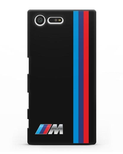 Чехол BMW M Perfomance силикон черный для Sony Xperia X Compact