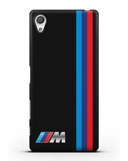 Чехол BMW M Perfomance силикон черный для Sony Xperia X Performance