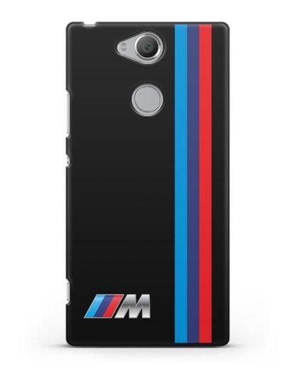 Чехол BMW M Perfomance силикон черный для Sony Xperia XA2