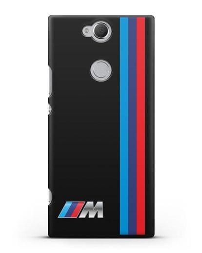 Чехол BMW M Perfomance силикон черный для Sony Xperia XA2 Plus