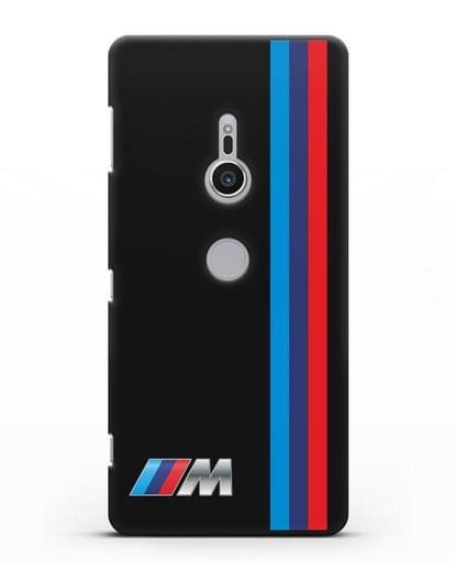 Чехол BMW M Perfomance силикон черный для Sony Xperia XZ2