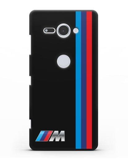 Чехол BMW M Perfomance силикон черный для Sony Xperia XZ2 Compact