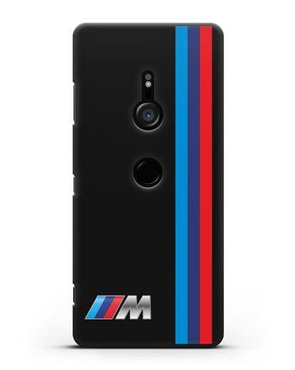 Чехол BMW M Perfomance силикон черный для Sony Xperia XZ3