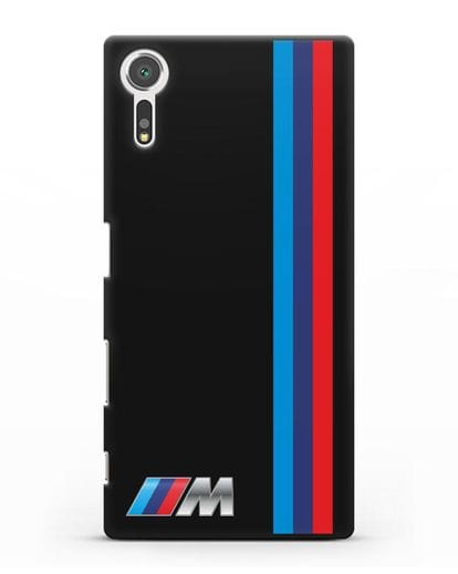 Чехол BMW M Perfomance силикон черный для Sony Xperia XZ