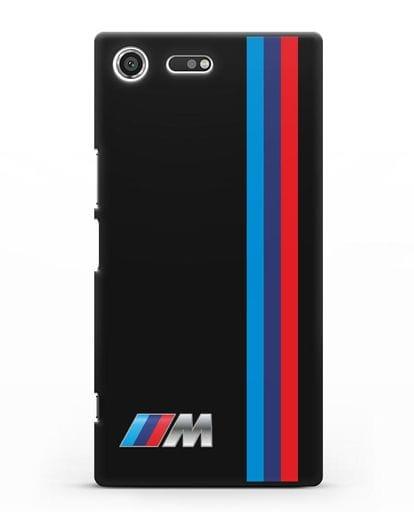 Чехол BMW M Perfomance силикон черный для Sony Xperia XZ Premium