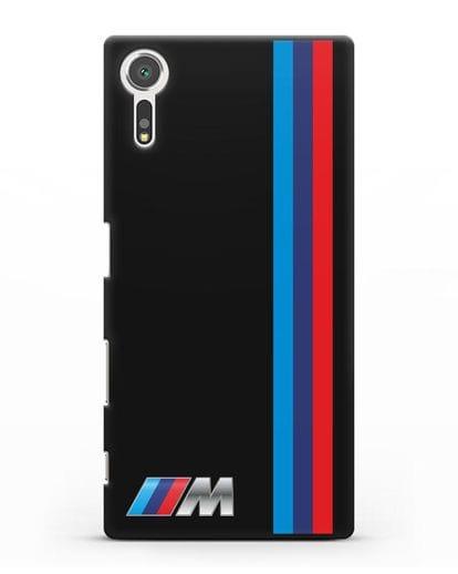 Чехол BMW M Perfomance силикон черный для Sony Xperia XZs