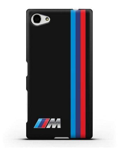 Чехол BMW M Perfomance силикон черный для Sony Xperia Z5 Compact