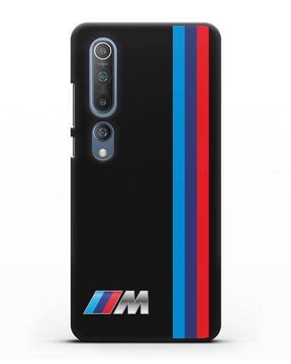 Чехол BMW M Perfomance силикон черный для Xiaomi Mi 10 Pro