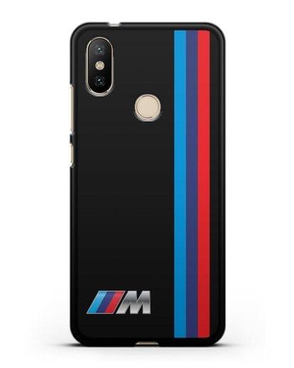 Чехол BMW M Perfomance силикон черный для Xiaomi Mi A2