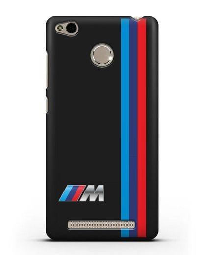 Чехол BMW M Perfomance силикон черный для Xiaomi Redmi 3s