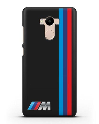 Чехол BMW M Perfomance силикон черный для Xiaomi Redmi 4 Pro