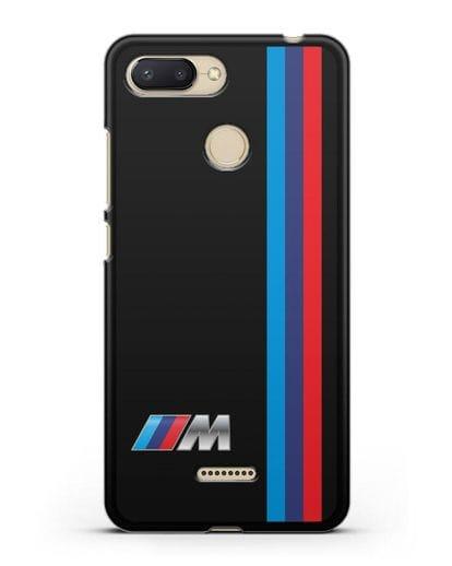 Чехол BMW M Perfomance силикон черный для Xiaomi Redmi 6