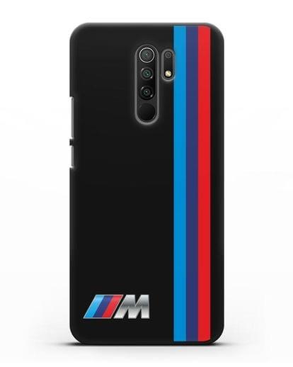 Чехол BMW M Perfomance силикон черный для Xiaomi Redmi 9