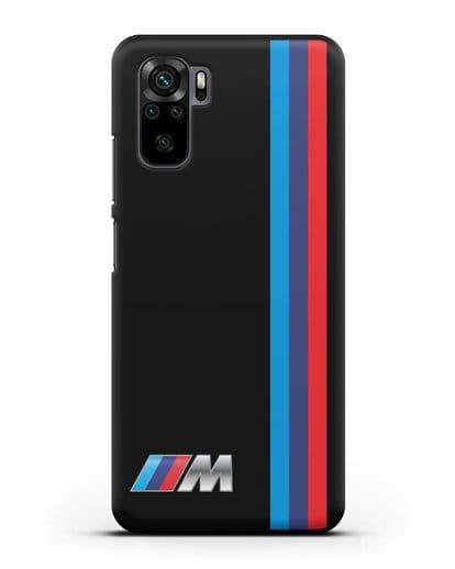 Чехол BMW M Perfomance силикон черный для Xiaomi Redmi Note 10