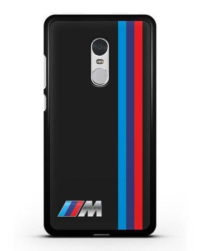 Чехол BMW M Perfomance силикон черный для Xiaomi Redmi Note 4X