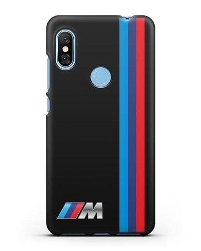 Чехол BMW M Perfomance силикон черный для Xiaomi Redmi Note 6 Pro