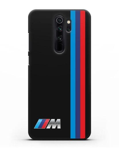 Чехол BMW M Perfomance силикон черный для Xiaomi Redmi Note 8 Pro
