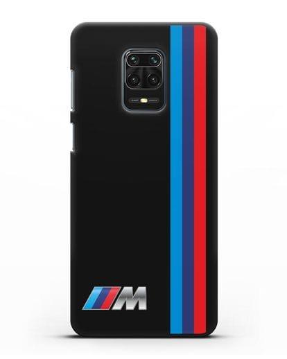 Чехол BMW M Perfomance силикон черный для Xiaomi Redmi Note 9 Pro