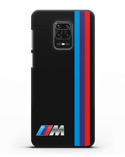 Чехол BMW M Perfomance силикон черный для Xiaomi Redmi Note 9S