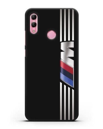 Чехол с символикой BMW M серия силикон черный для Honor 10 Lite