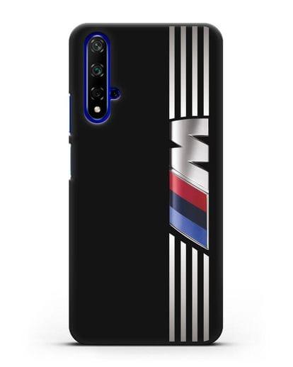 Чехол с символикой BMW M серия силикон черный для Honor 20