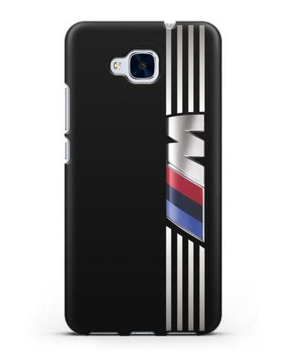 Чехол с символикой BMW M серия силикон черный для Honor 5C