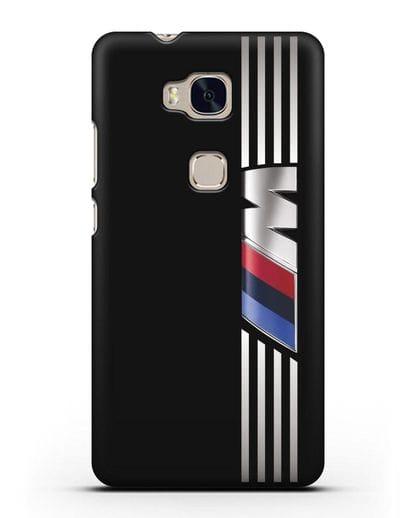 Чехол с символикой BMW M серия силикон черный для Honor 5X