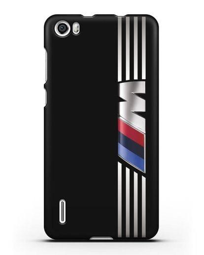 Чехол с символикой BMW M серия силикон черный для Honor 6