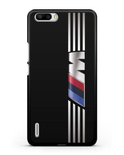 Чехол с символикой BMW M серия силикон черный для Honor 6 Plus