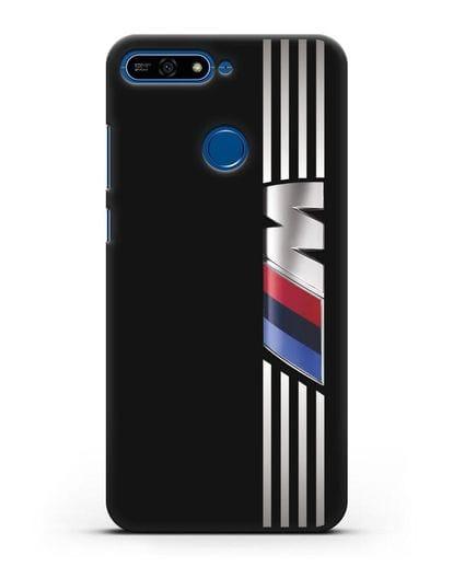 Чехол с символикой BMW M серия силикон черный для Honor 7А Pro