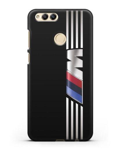 Чехол с символикой BMW M серия силикон черный для Honor 7X