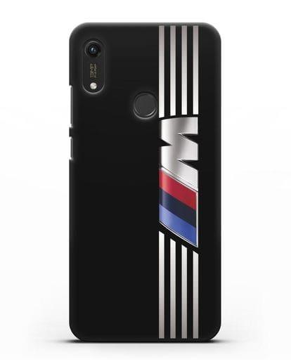 Чехол с символикой BMW M серия силикон черный для Honor 8A Prime