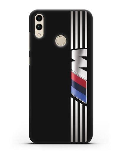 Чехол с символикой BMW M серия силикон черный для Honor 8C