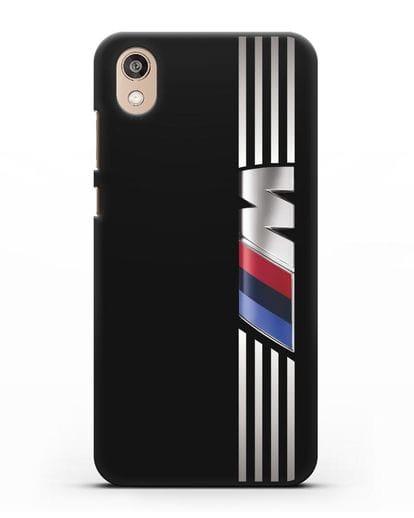 Чехол с символикой BMW M серия силикон черный для Honor 8S