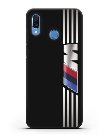 Чехол с символикой BMW M серия силикон черный для Honor Play