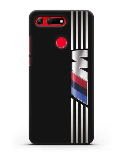 Чехол с символикой BMW M серия силикон черный для Honor View 20